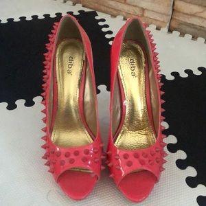 Diba spiky coral heels
